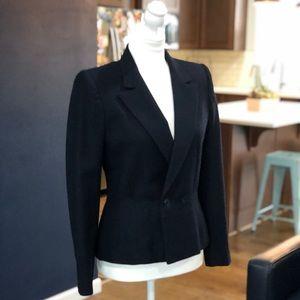 Vintage '80s Anne Klein 100% wool navy blazer